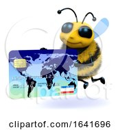 3d Honey Bee Pays With Plastic by Steve Young