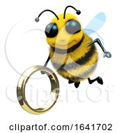 3d Bee With Gold Ring by Steve Young
