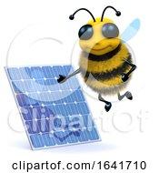 Poster, Art Print Of 3d Honey Bee Solar Power