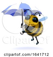 3d Bee Under An Umbrella by Steve Young