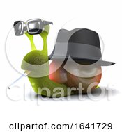 3d Snail In Trilby Smoking