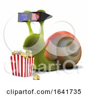 3d Snail At The Movies