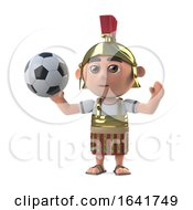 3d Roman Centurion Plays Soccer by Steve Young