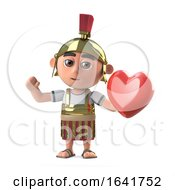 Poster, Art Print Of 3d Roman Centurion Soldier Has A Heart