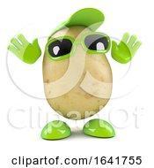 Surprised 3d Potato