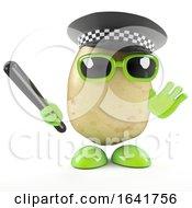3d Police Officer Potato