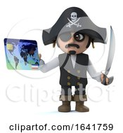 3d Pirate Captain Pays With A Debit Card