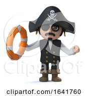 3d Cute Pirate Captain Character Rescues You From Drowning