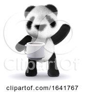 Poster, Art Print Of 3d Baby Panda Tea Break