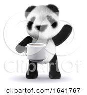 3d Baby Panda Tea Break by Steve Young