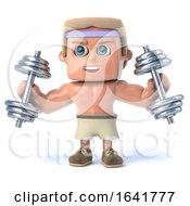 3d Bodybuilder Works Out