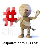 Funny 3d Egyptian Mummy Character With Hashtag by Steve Young