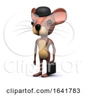 Cute 3d Mouse Character Dressed As Businessman With Briefcase by Steve Young