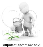 3d Little Man Waters A Seedling