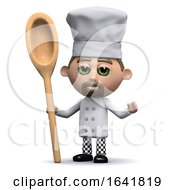 3d Chef With A Wooden Spoon