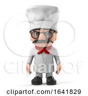 3d Funny Italian Pizza Chef Character
