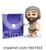 Funny Cartoon 3d Caveman Has Invented A Square Dvd