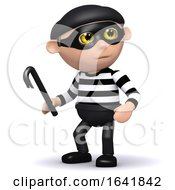 3d Burglar Has A Crowbar