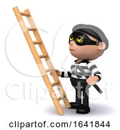 3d Burglar With Ladder