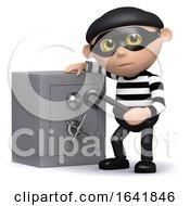 3d Burglar And Safe