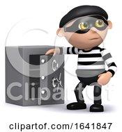 3d Burglar Opens The Safe