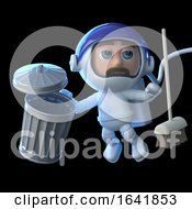 3d Astronaut Cleans Up Space by Steve Young