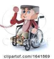 3d Boy In Wheelchair Answers The Phone
