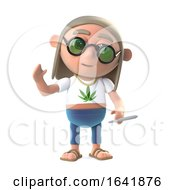 Poster, Art Print Of 3d Stoner Hippy Waves A Cheerful Hello