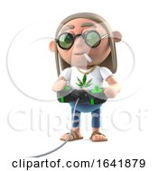 Poster, Art Print Of 3d Hippie Stoner Playing A Video Game