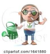 3d Stoner Hippie Waters His Plants