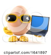 Poster, Art Print Of 3d Egg With Laptop