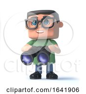 3d Boy In Glasses With Binoculars by Steve Young