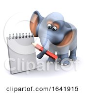 3d Elephant Takes Notes by Steve Young