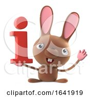 Poster, Art Print Of 3d Funny Cartoon Easter Bunny Rabbit Character Has Information