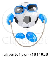 3d Football Dude Skips To Keep In Shape