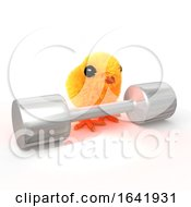 Cute 3d Easter Chick Weightlifter