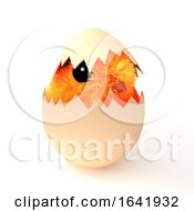 Poster, Art Print Of 3d Easter Chick Hatching