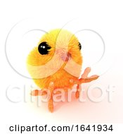 3d Easter Chick Sitting