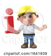 Poster, Art Print Of 3d Construction Worker Has Info
