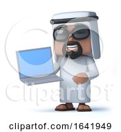 3d Arab Holding A Laptop