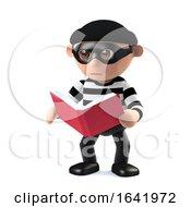 3d Burglar Reading A Book