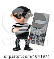 3d Burglar Using A Calculator
