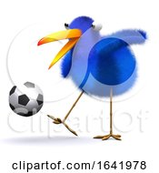 Poster, Art Print Of 3d Blue Bird Football