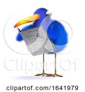 Poster, Art Print Of 3d Blue Bird News