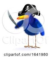 Poster, Art Print Of 3d Blue Bird Pirate