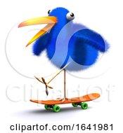 Poster, Art Print Of 3d Blue Bird Skateboard