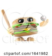 Poster, Art Print Of 3d Beefburger Plays Baseball