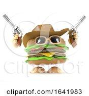 Poster, Art Print Of 3d Burger Cowboy