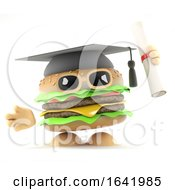 Poster, Art Print Of 3d Graduate Burger