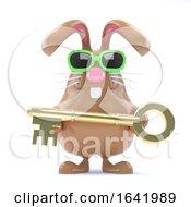 3d Gold Key Bunny